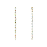 VANYA II GOLD PLATED OPAL CRYSTAL DROP EARRINGS