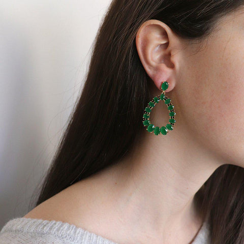 VAHI GREEN CRYSTAL EARRINGS