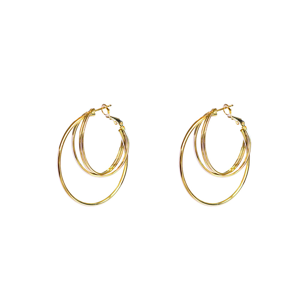 WILDER GOLD INTERLOCK HOOP EARRINGS