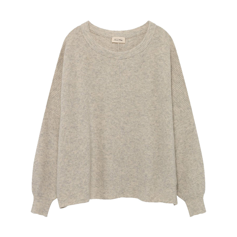 WOPY MINERAL GREY OVERSIZED PULLOVER