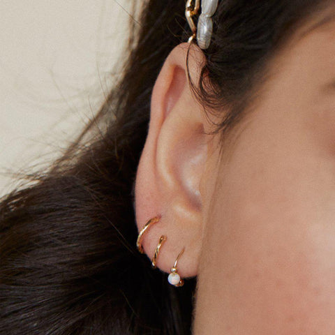 SAMMY WHITE OPALITE SLEEPER EARRING