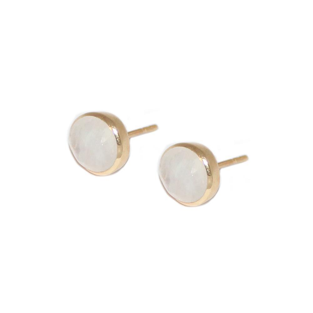 ADRIAN MOONSTONE GOLD STUD EARRINGS