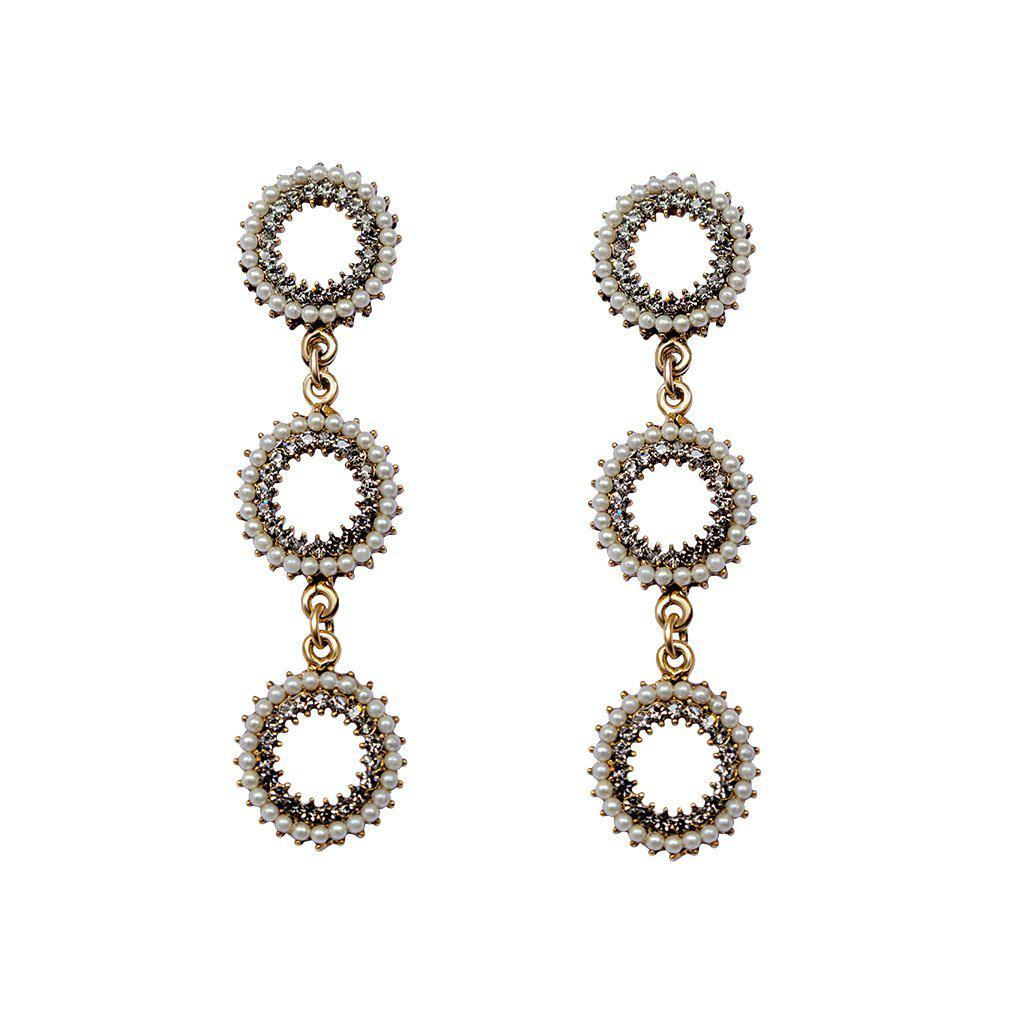 AITANA PEARL AND CRYSTAL EARRINGS