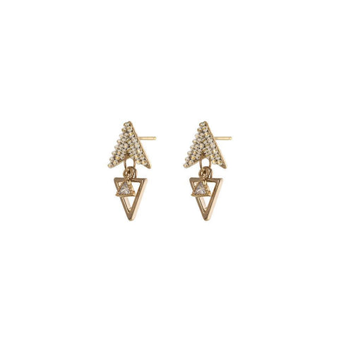 ALASKA WHITE TRIANGLE DROP EARRINGS-Earrings-MEZI