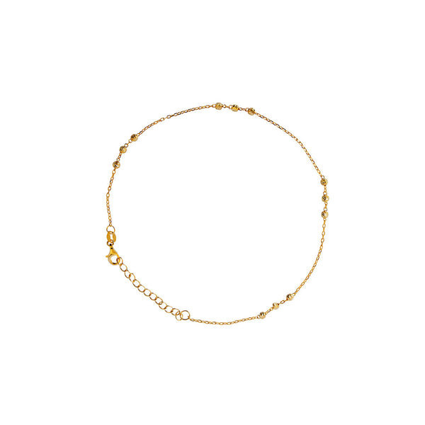 ALIKI 2 MICRON GOLD BALL ANKLET