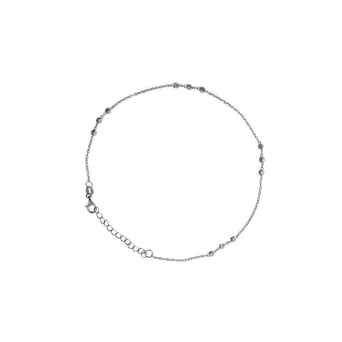 ALIKI STERLING SILVER BALL ANKLET