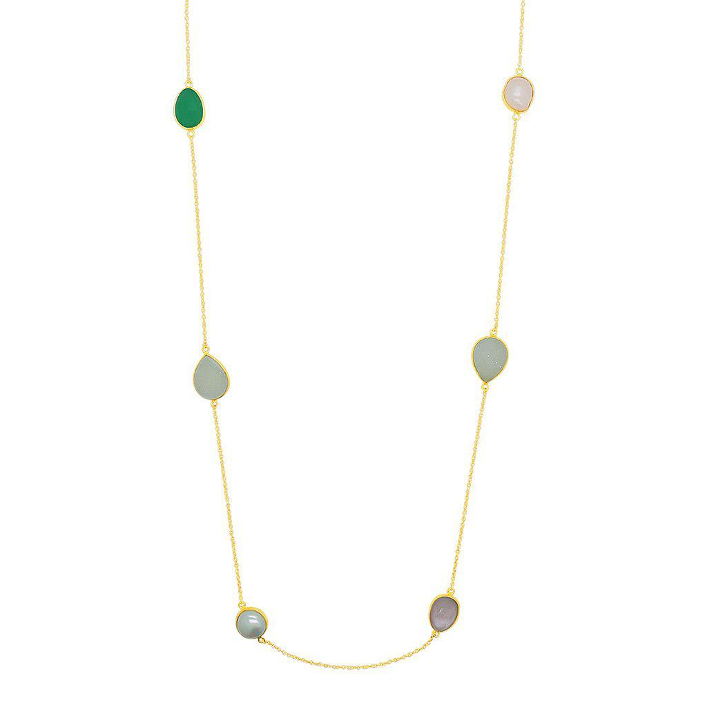 ALISHA FRESHWATER PEARL AND SEMI-PRECIOUS STONE NECKLACE