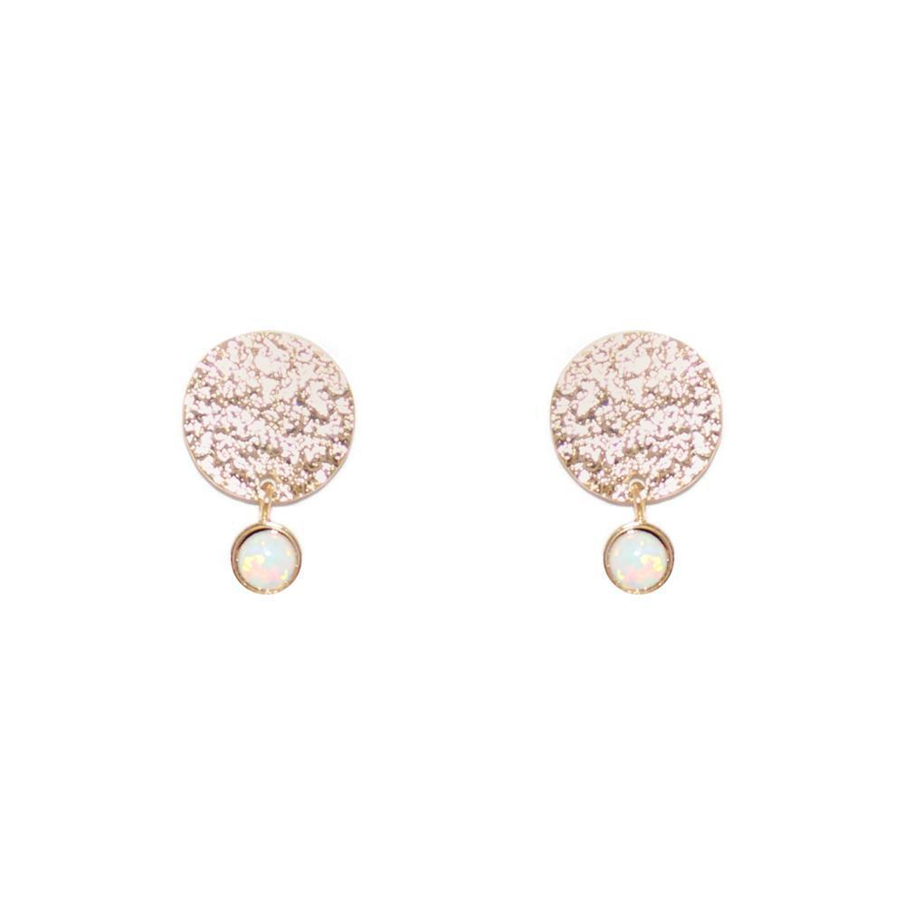 ALYA GOLD OPALITE BAR EARRINGS-Earrings-MEZI