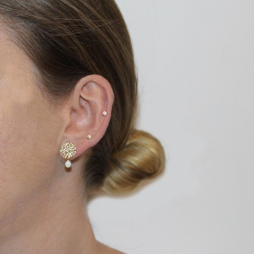 ALYA GOLD OPALITE BAR EARRINGS
