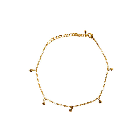 BAILISE GOLD FILLED CRYSTAL ANKLET