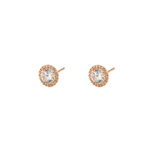 ANNE ROSE GOLD CRYSTAL STUD EARRING