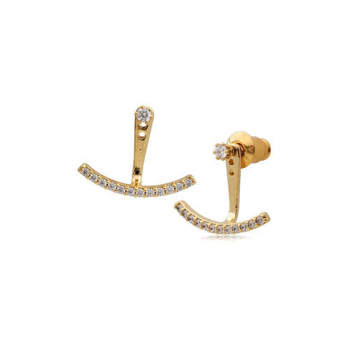 ANNETTE GOLD CRYSTAL JACKET EARRINGS-Earrings-MEZI