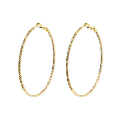 ARTEM GOLD CRYSTAL HOOP EARRINGS
