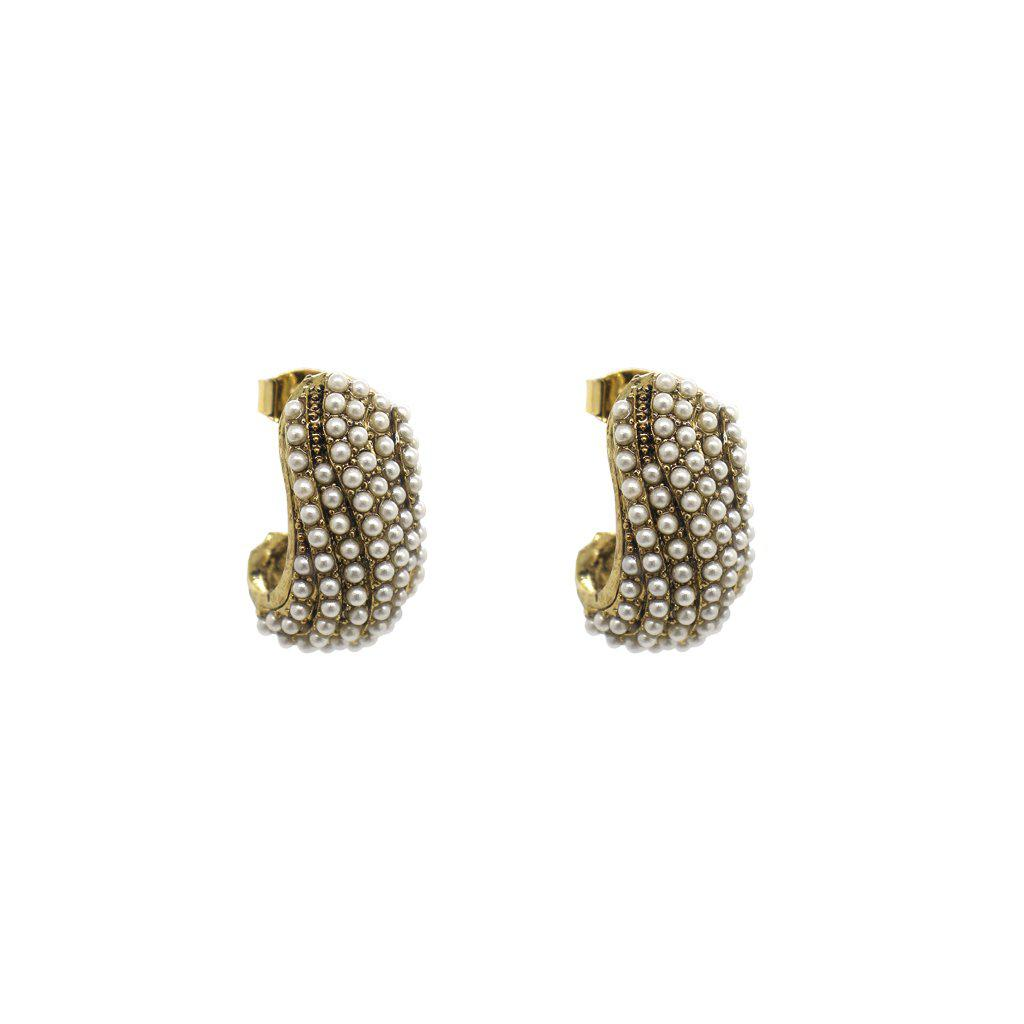 ASTRA PEARL GOLD EARRINGS