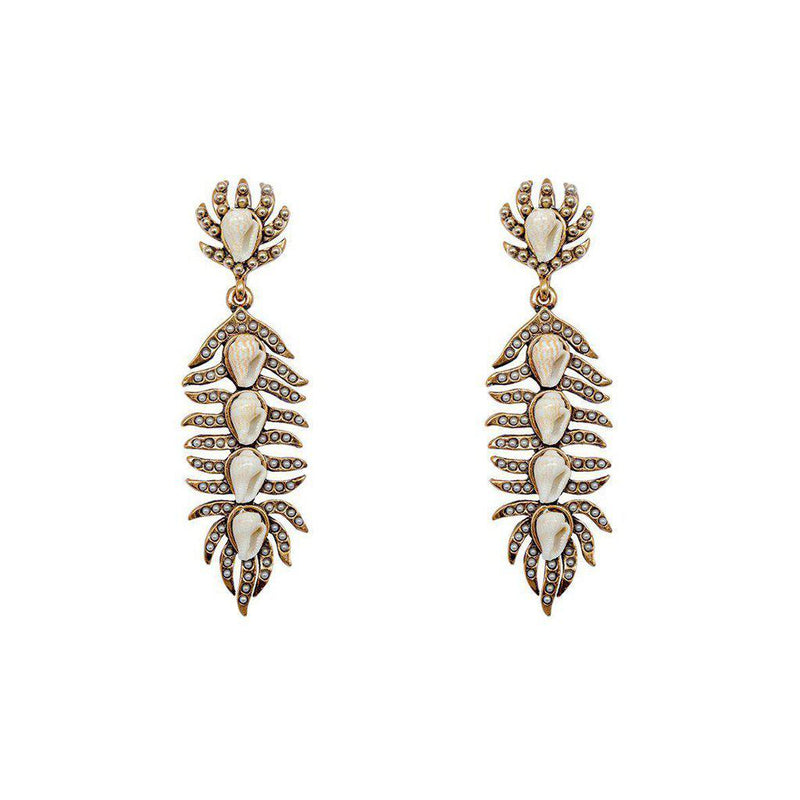 ASTRID SHELL GOLD FASHION EARRINGS