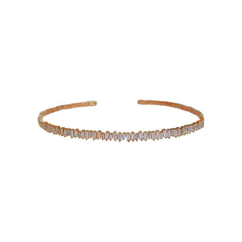 ATHENA CRYSTAL ROSE GOLD CHOKER