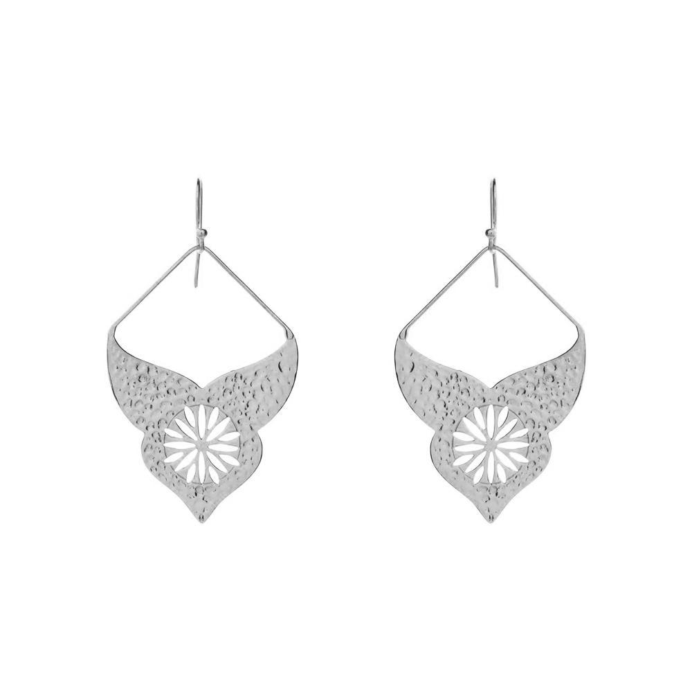 AURORA SILVER BOHEMIAN EARRINGS-Earrings-MEZI