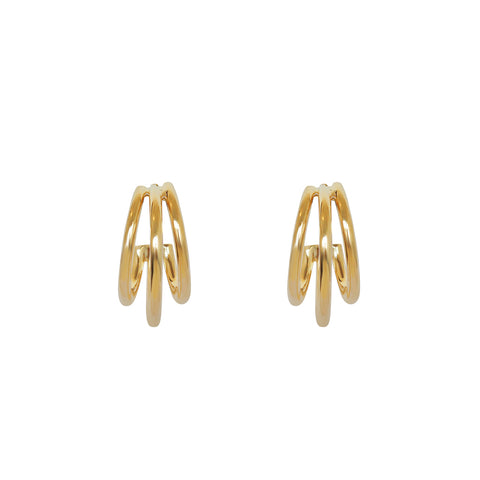 AVAK TRIPLE HOOP GOLD EARRINGS