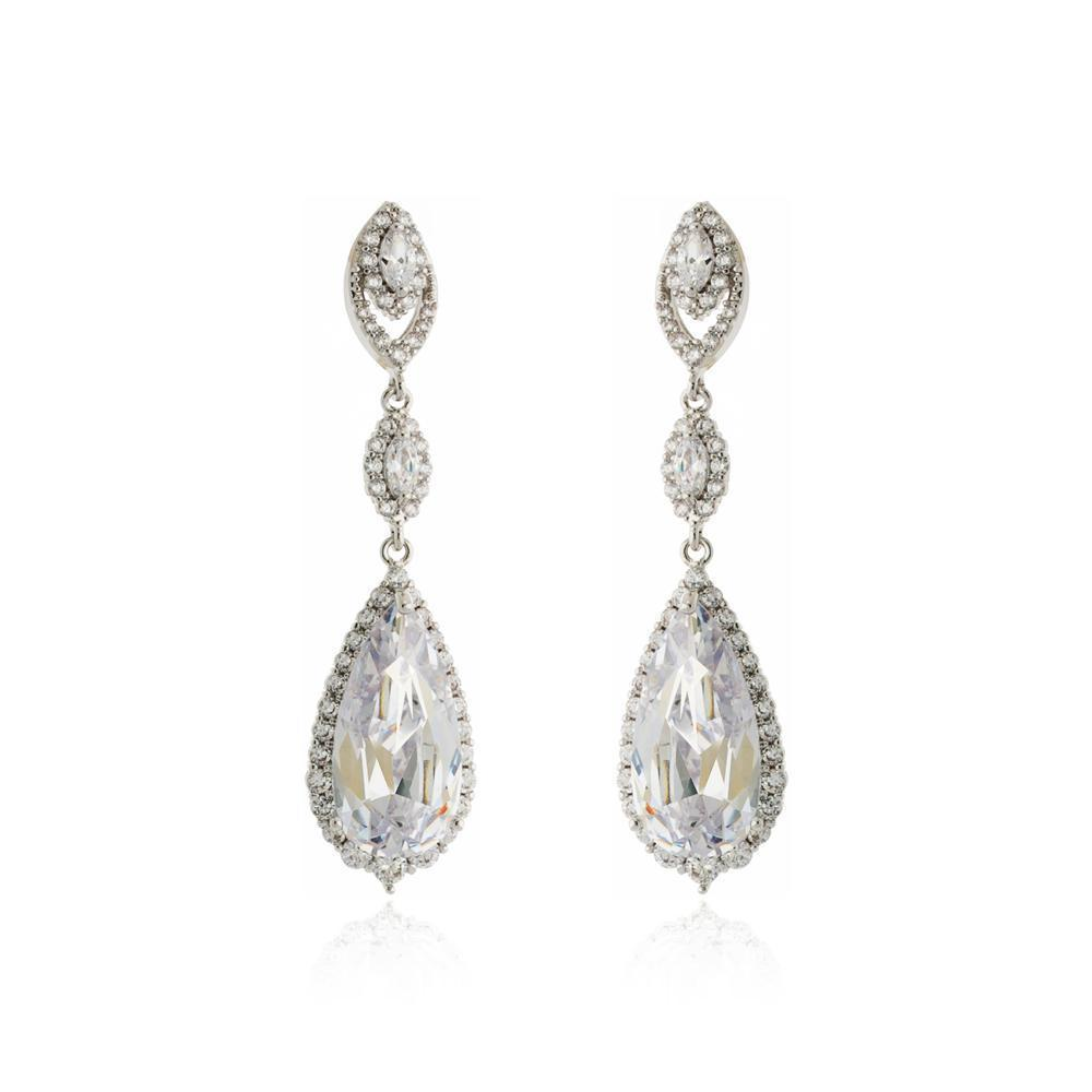 AZALEA TEAR DROP CRYSTAL EARRINGS