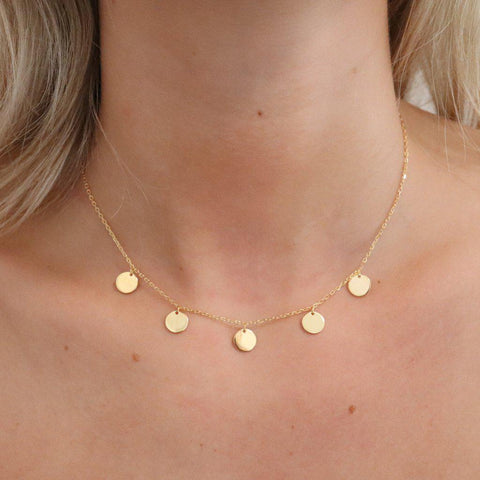 BAEZ COINS GOLD FINE NECKLACE