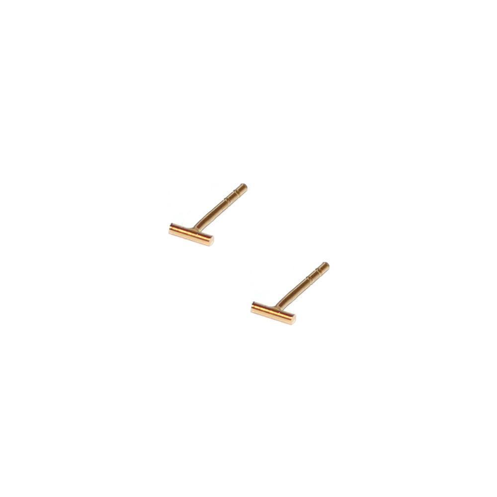 BAR GOLD STUDS 4MM