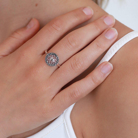 BARA STERLING SILVER & MARCASITE RING