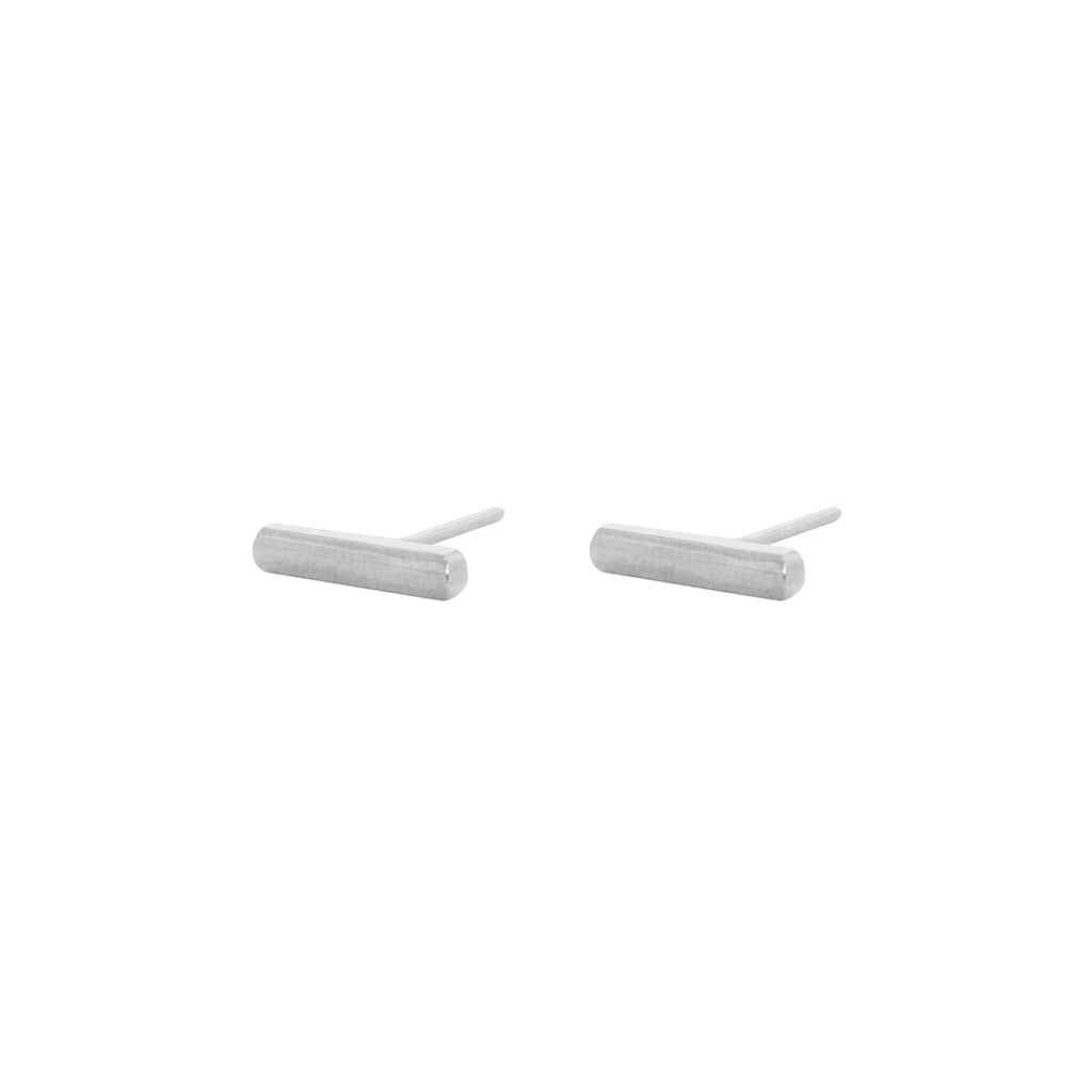 BAR STERLING SILVER STUDS
