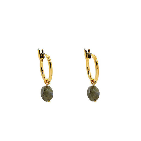 BASIA LABRADORITE SEMI-PRECIOUS EARRINGS