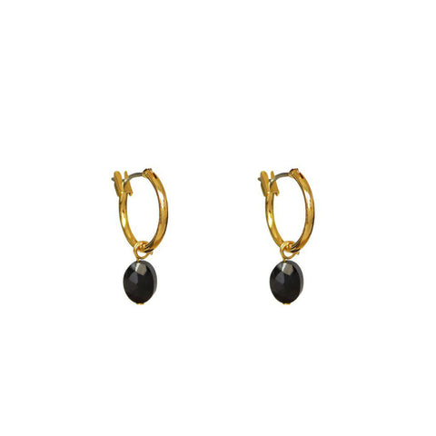 BASIA ONXY SEMI-PRECIOUS EARRINGS