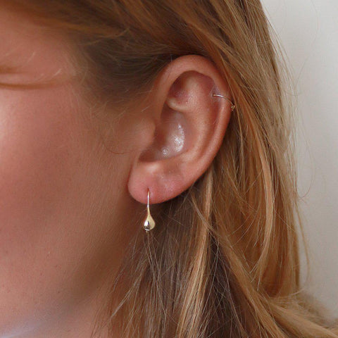 BEL TEARDROP GOLD HOOK EARRINGS