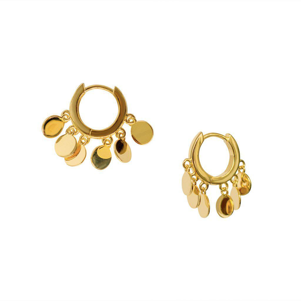 BELI DISCS CHARM GOLD EAR HUGGIES