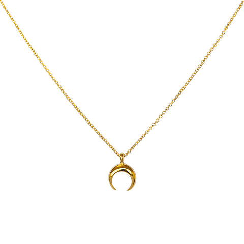 BLARIE CRESCENT GOLD PLATED PENDANT