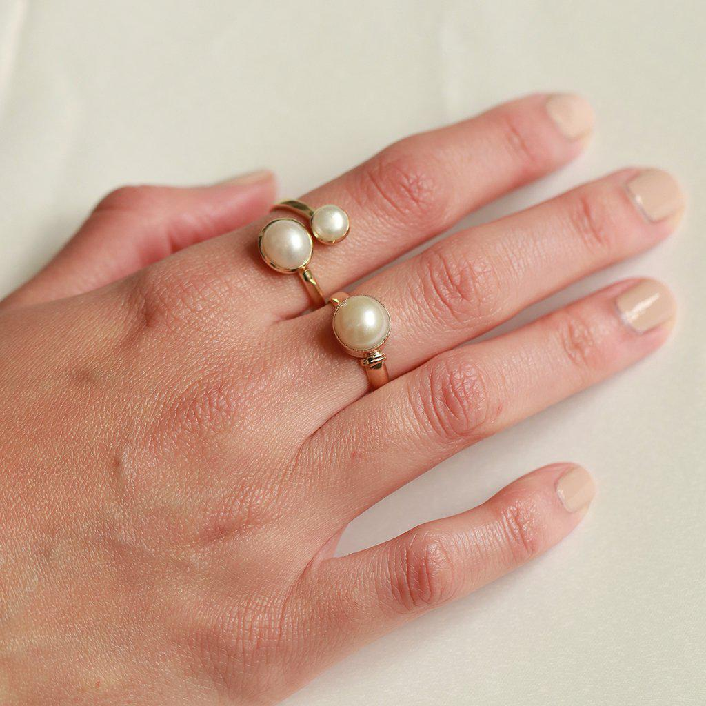HELMA GOLD FILLED PEARL RING