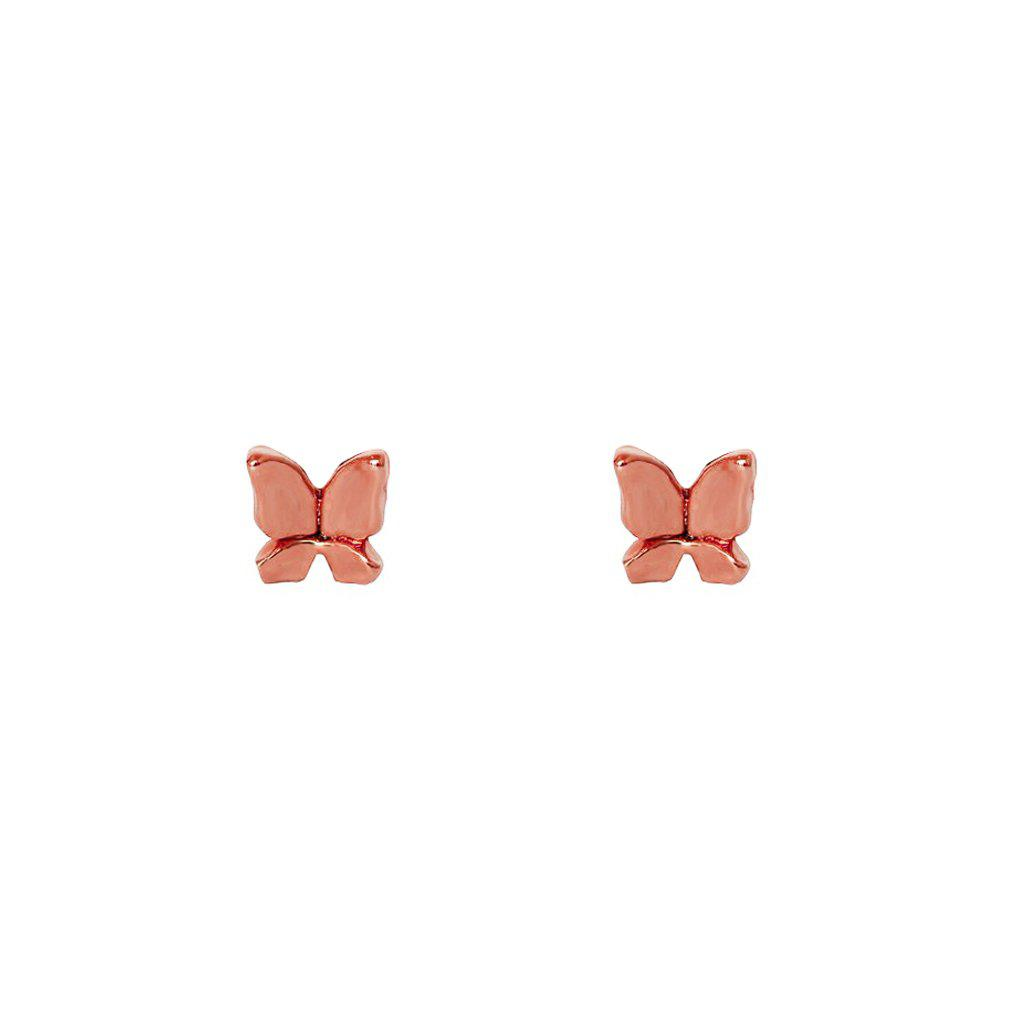 BUTTERFLY ROSE GOLD MINI STUDS