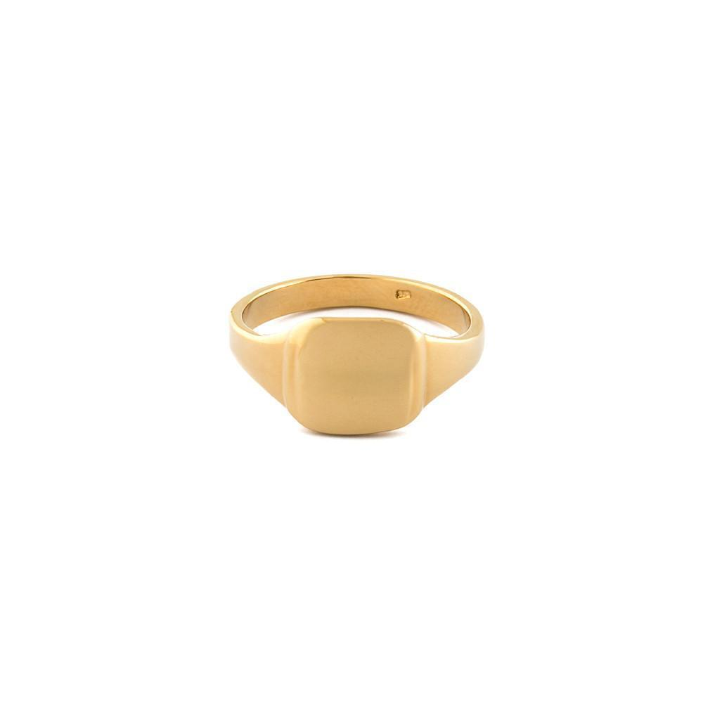 CADEN SIGNET GOLD RING