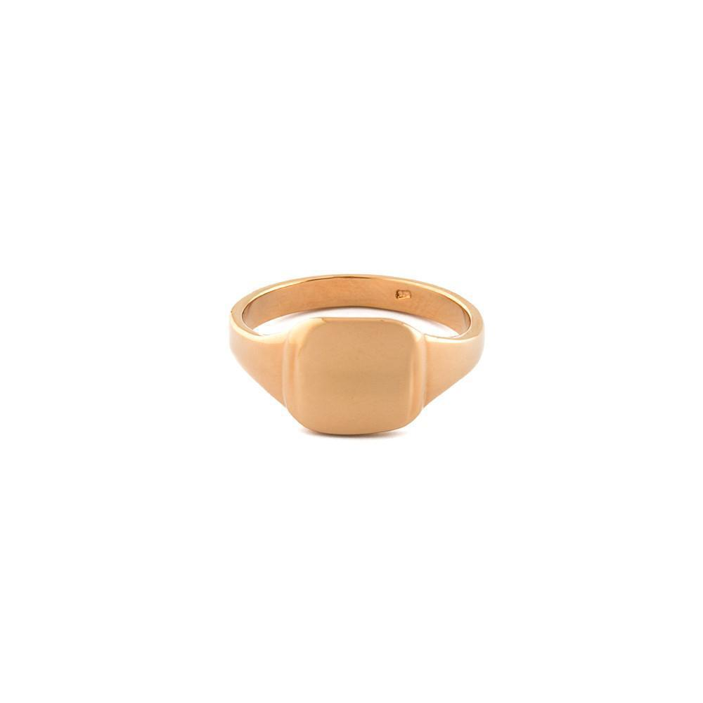 CADEN SIGNET ROSE GOLD RING-Rings-MEZI