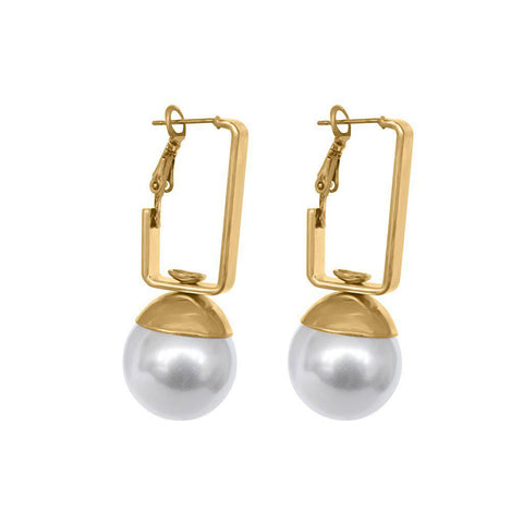 CADENCE GOLD SHELL BASED PEARL EARRINGS