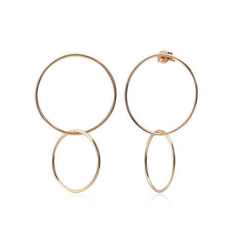 CAMILLA ROSE GOLD EARRING-Earrings-MEZI