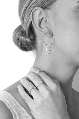 CAMILLA SILVER EARRING-Earrings-MEZI