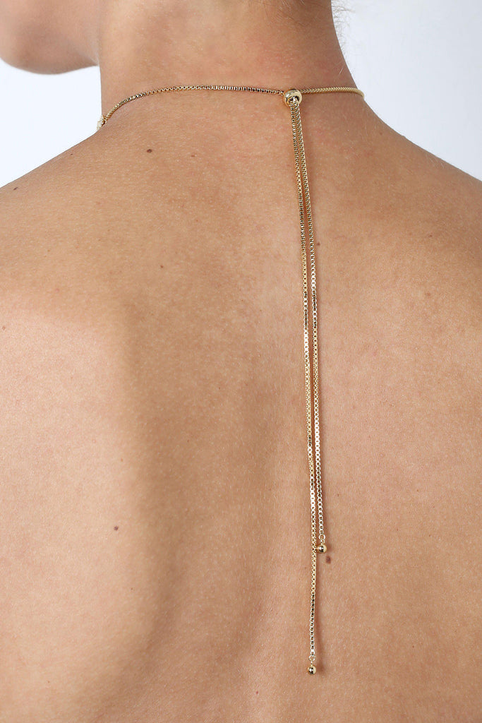 CARLA GOLD NECKLACE CHOKER-Necklaces-MEZI