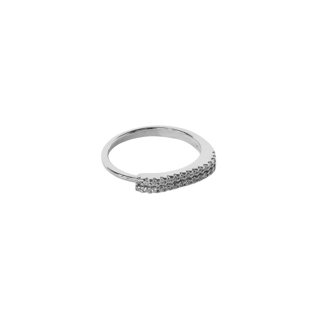 CASSI CRYSTALS SILVER RING