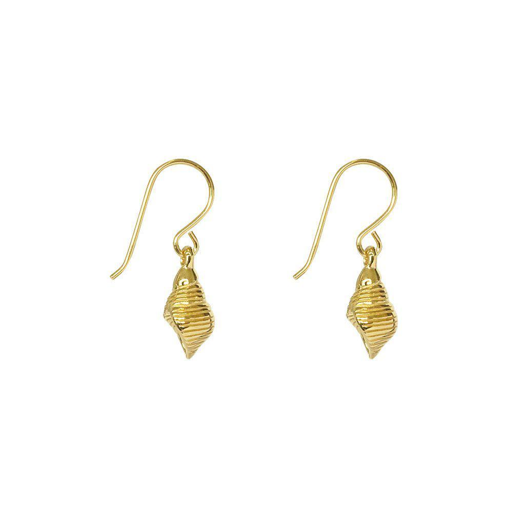 CHANDA SHELL 1 MICRON GOLD PLATED EARRINGS