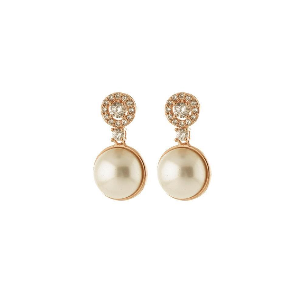 CHARLOTTE PEARL GOLD EARRINGS