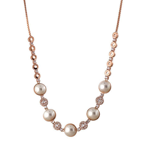 CHARLOTTE PEARL/ROSE GOLD CHOKER/NECKLACE-Necklaces-MEZI
