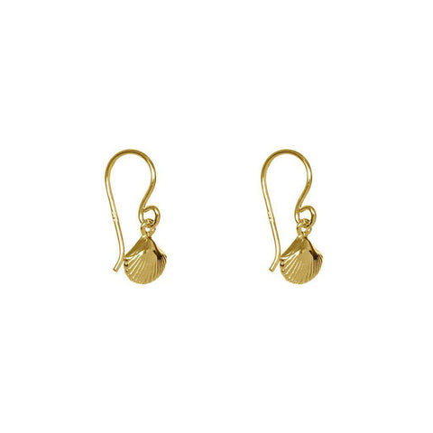 CHELSI SHELL 1 MICRON GOLD PLATED EARRINGS
