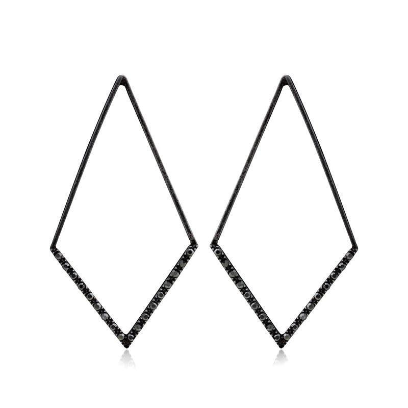 CLARA GUNMETAL EARRING-Earrings-MEZI