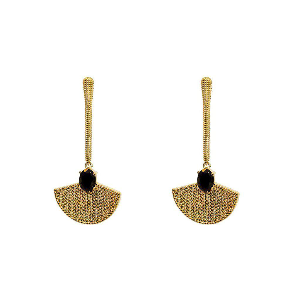 CLEA BLACK SWAROVSKI CRYSTAL EARRINGS