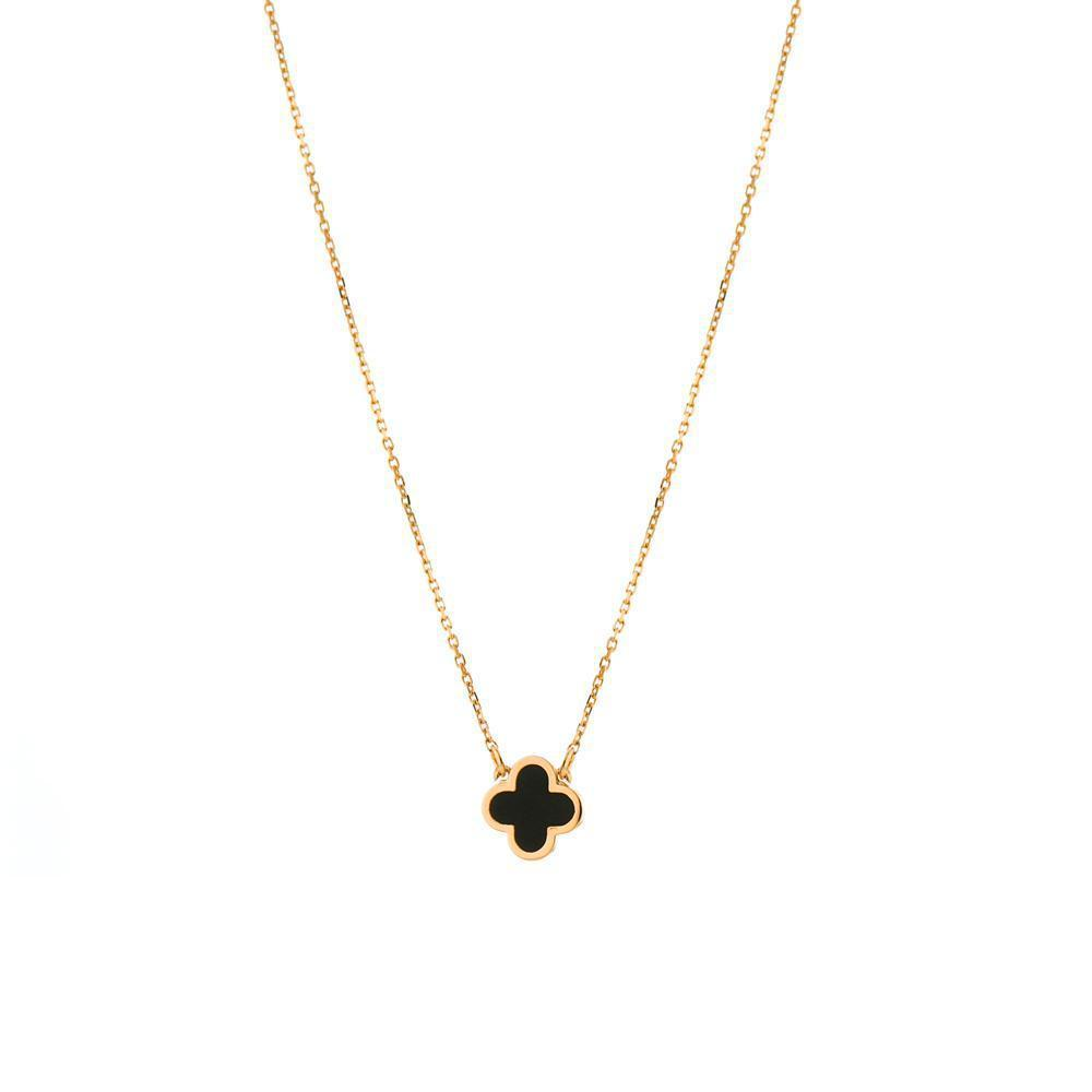 CLOVER BLACK NECKLACE