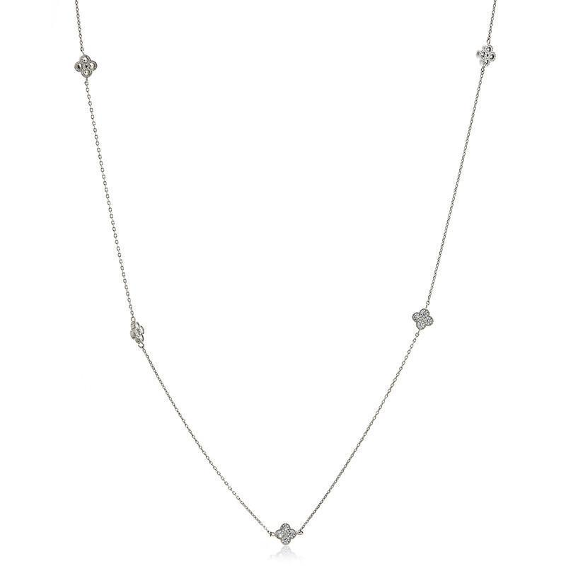 CLOVER SILVER NECKLACE-Necklaces-MEZI