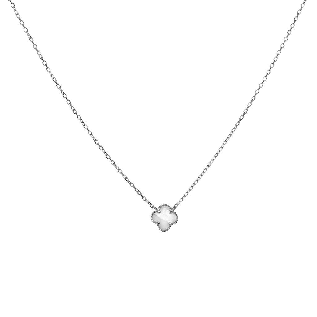 CLOVER STERLING SILVER MOTHER OF PEARL PENDANT II